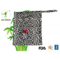 28*34cm Laminated PUL Waterproof Wet Bag , Small Reusable Wet Clothes Bag Manufactures