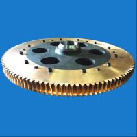 Transmission Parts Large Diameter Forged Brass Worm Gear With Steel Hub Manufactures