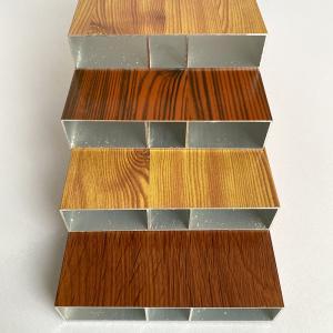 6m 6063 T5 Anodized Wood Finish Aluminium Profiles Manufactures