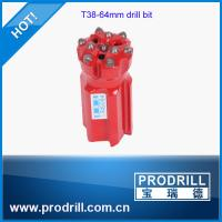 Drilling rock tools T38 64mm rocket drill threaded button bit Manufactures
