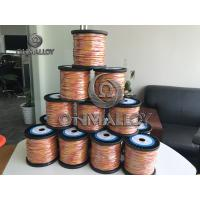China Dia 0.8 mm type K Thermocouple compensation cable 600 degree insulation on sale