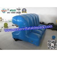 Blue Inflatable Floating Connection / Lake Floating Inflatable Water Park Game Manufactures