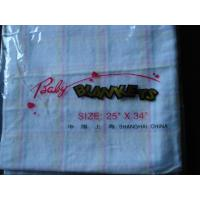 China BABY COTTON  BLANKET(YARN DYED  WITH VELVET ) on sale