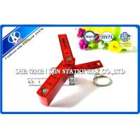 Hot Stamping 50cm Red / White ABS Folding Metric Scale Ruler For Engineer With Key Ring Manufactures