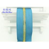 26 Inch Open Ended Long Chain Zipper Bright Tape Golden Metal Teeth For Bag And Garments Manufactures