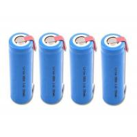 Cylindrical Custom Battery Packs / 18650 3.7 V Battery 1300mah With Tab , Blue PVC Wrap Manufactures