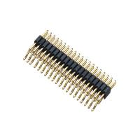 Double Row Black SMT Pin Header Connector Male PA9T H = 2.0 With CAP ROHS Approved