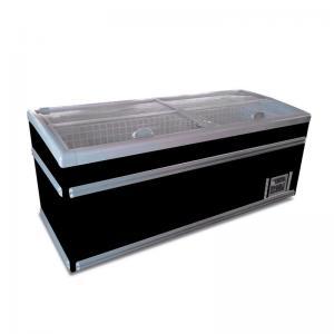 Commercial Island Glass Top Sliding Door Supermarket Chest Freezer Manufactures