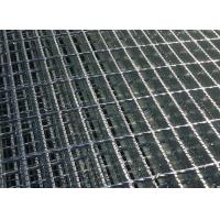 Stair Tread Q235 Serrated Steel Grating , Serrated Bar Grating For Twisted Bar Walkway Manufactures