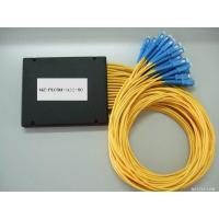 China PLC 1×32 Fiber Optic Splitter ABS material SC connector 3.0mm diameter G657A1 fiber yellow cable on sale