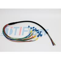 12 Core FTTX Fiber Optic Pigtail for Patch Panel , lc pigtail multimode Manufactures