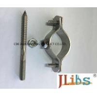 Buy cheap 304 SS Cast Iron Pipe Clamps With No Rubber Coated Pipe Clamp Structure from wholesalers