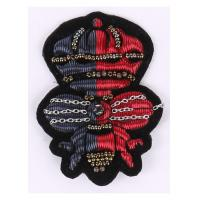 Crown And Bee Pattern Regimental Blazer Badges , Two Colors Bullion Wire Badges