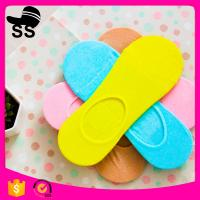 69% Cotton 25 % polyester  6%Spandex 2017 Summer Wholesale Sweat-Absorbent Pure Color Girls Women Winter Boat  Socks Manufactures
