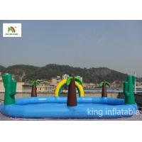 Fire - Retardant Jungle Inflatable Elliptic Pool Ranibow For Outdoor Manufactures