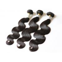 Full Cuticle Curly Human Hair Extensions , Unprocessed Grade 8A Peruvian Hair Wave Manufactures