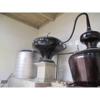 Double Pots Distiller with 6 Plates Copper Column / Two Pot Style Distillation Equipment for Sale Manufactures