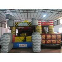 Buy cheap Inflatable Construction worker themed combo PVC material inflatable jumping from wholesalers