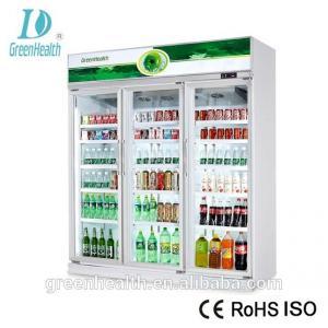 1220L Capacity -18~22℃ Upright Glass Door Freezer / Seafood Display Cooler Manufactures