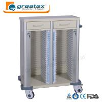 Medical Appliances Comfortable Case History Holder Trolley with Wheels and Drawers Manufactures