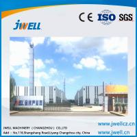 Quality Jwell shock absorption sound insulation pvc semi-skinning foam board extrusion line for sale