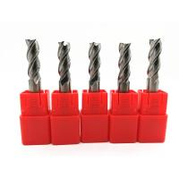 CNC Machines Solid Carbide End Mills Milling Cutter Tools HRC45 ~ 60 Manufactures