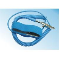 Safety Comfortable ESD Anti Static Wrist Strap Free Size With Grounding Cord Manufactures