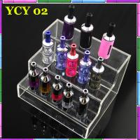 Various Colors Fashion E Cig Display Shelf With Acrylic E Cig Holders Manufactures
