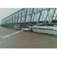 Portable Railroad Steel Truss Bridge Temporary Simple Structure Supporting Light Gray Manufactures