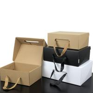 China Luxury Custom Printing Packaging Paper Gift Box Handle Corrugated Box on sale