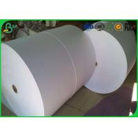 China Uncoated Woodfree Virgin Jumbo Roll Paper 60gsm 70gsm 80gsm For Making Paper Cup on sale