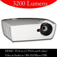 3200 ANSI Lumen HD DLP Video Projector With HDMI VGA In Out For School Education Office Manufactures