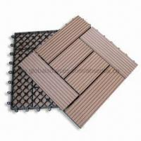 WPC Decking Tiles for Outdoor Flooring, Easy to Install and Clean Manufactures