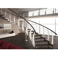 Buy cheap Interior Building Curved Stairs Screws Installation Contemporary Staircase from wholesalers