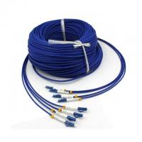 Military Tactical 4 Strand Fiber Optic Cable 200m Single Mode LC Armored Manufactures