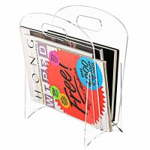 Freestanding Modern Clear Acrylic Magazine Holder Display Stand / File Folder Storage Organizer Rack Manufactures