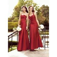 China Halter Ruched Bodice Full-Length Sweetheart Bridesmaid Dress (BD10031) on sale