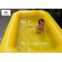 Yellow Double Tubes Blow Up Swimming Pool For Children In Backyard Manufactures