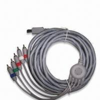 Nintendo's Wii Component Cables, Made of ABS, PVC and Gold-plated Materials Manufactures