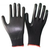 China OEM working gloves foam nitrile Glove knit wrist of size S, M, L, XL of China supplier on sale