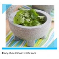 China granite pestle and mortar with feet on sale