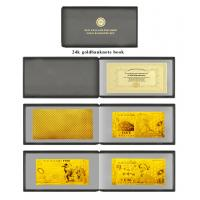 Full Sets New Zealand Polymer Gold Foil Banknote Book Set For Promotion Gifts Manufactures
