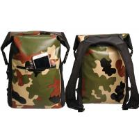 Camping Camo Dry Bag Backpack Roll Top Closure With Front Zippered Pocket Manufactures
