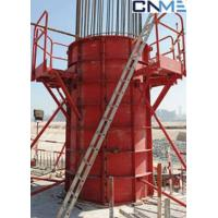 Buy cheap High Stiffness Circular Column Formwork Systems Channel Steel Material Red Color from wholesalers