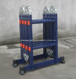 Blue 8.2ft 4×2 Aluminium Scaffolding Ladder Manufactures