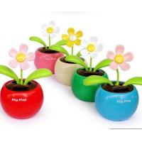 car toys Creative Solar Power Dancing Flower Flip flap Swing Flower for Car/home gift Manufactures