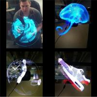 Electronic Hologram Projector 3D LED Holographic Advertising Display Fan 42cm Diameter Manufactures