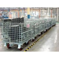 Heavy Duty Storage Foldable Metal Wire Mesh Container Box With Wheels Castors Manufactures