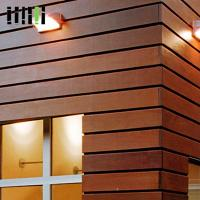 Wood Wall Cladding Panels , Exterior Wooden Wall Tiles 5 Years Warranty Manufactures