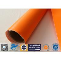 Buy cheap One Side Orange Fire Blanket silicone coated fiberglass cloth 500GSM 0.5mm from wholesalers
